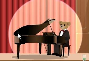 Bear playing the piano image