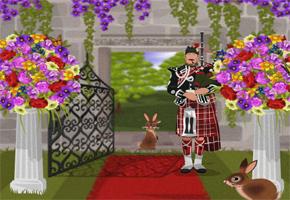 garden wedding aisle image